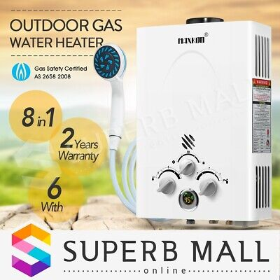 Portable MAXKON 4WD Gas Hot Water Heater Shower Camping LPG Caravan Outdoor
