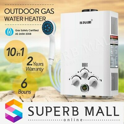 MAXKON Outdoor Gas Hot Water Heater 4WD Portable Shower Camping LPG Instant