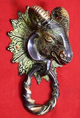 Brass Door Knocker Goat Head Shape High Quality Brass Sheep Door Knocker BM-619