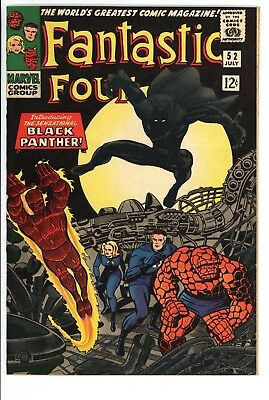 Fantastic Four #52 Vol 1 Near Perfect High Grade 1st Appearance of Black Panther