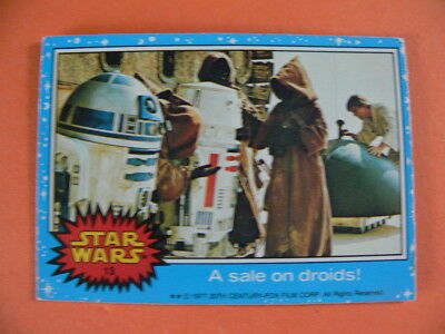 Star Wars. Topps Card. 1977. No.13. A Sale on Droids!