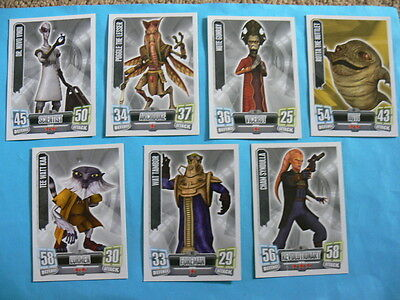 7 x Force Attax Star Wars Trading Cards. Mixed Lot. Poggle The Lesser etc