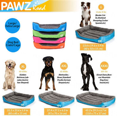 Dog Bed For Large/Medium/Small Dogs Soft Cat Cushion Waterproof Pad Kennel House