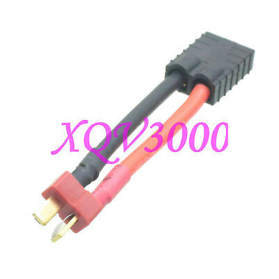 TRX Female to T-Plug Deans Male 12AWG 5CM ID LiPo Charger Adapter for Traxxas