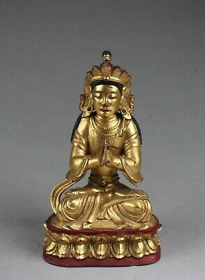 Chinese Wood Carved  Buddha Statue