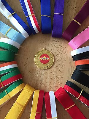 10x Winner, All Sports Medals 50mm Choice of ribbons  Great value!! Bulk Buy