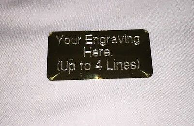 Engraved trophy award plaque, plate, filmcell, picture, 5cm by 2.5cm