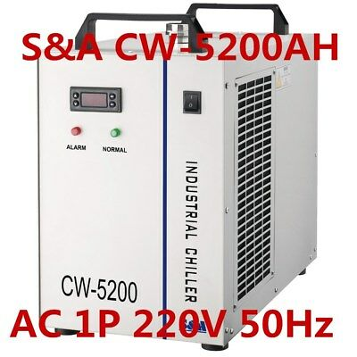 S&A 220V Industrial Water Chiller CW-5200AH for Single 130-150W CO2 Laser Tube