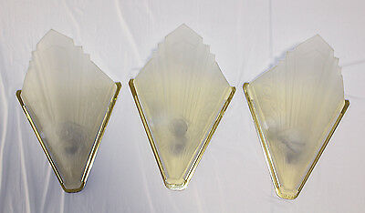 Vintage Art Deco Frosted Slip Shades - 1930's