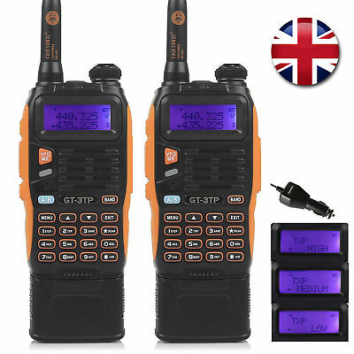 2x 3800mAh Baofeng GT-3TP MKIII V/UHF Tri-power 1/4/8W Walkie Talkie UK Shop
