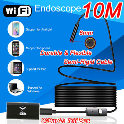 5M 10m USB WIFI Endoskop Semi-Rigid Inspektion Kamera Wasserdicht Android PC IOS
