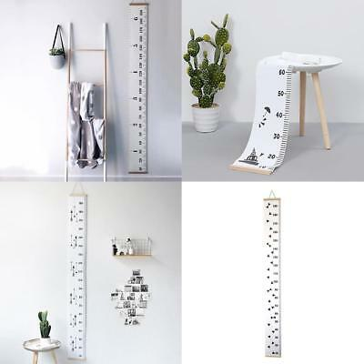 Simple Style Wall Height Chart Kids Height Ruler Wooden Hanging Growth Chart