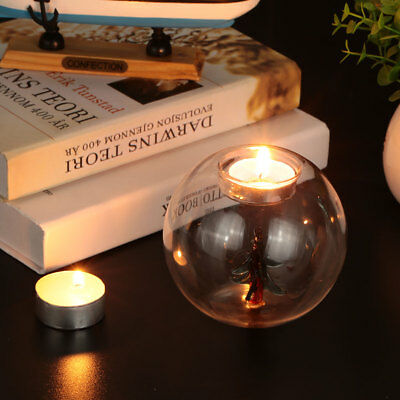 Transparent Round with Colorful Core Candlestick Creative Fashion Clear Home
