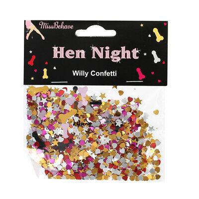 Hen Night Metallic Assorted Willy Table Confetti Party Decorations