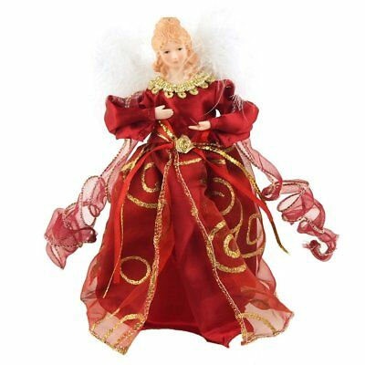 Christmas Tree Topper Tabletop Ornaments, 9-Inch Red - Angel