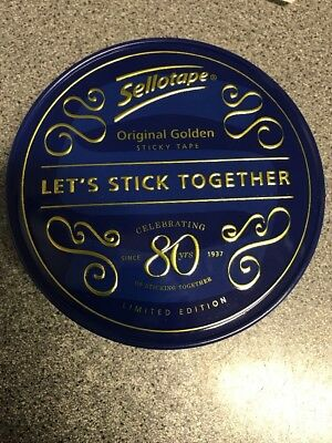 Sellotape Limited Edition 80th Birthday Tin