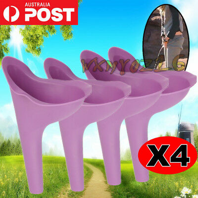 4 x Portable Female Woman Ladies She Urinal Urine Wee Funnel Camping Travel Loo