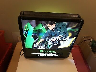 "John Deere 26"" x 26"" Lighted Sign Display 2003 Mobile Warranty Service LPU Only"