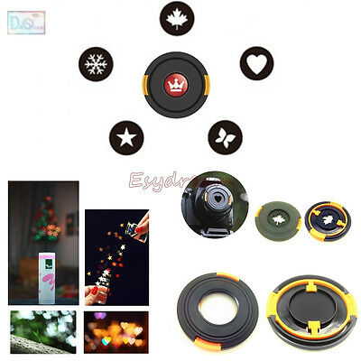 49 52 58 77mm Bokeh Masters 5in1 Kit Lens Cap Filter for Romantic Night Scene