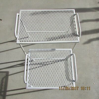 Salterini Nesting Tables 2 Vintage Mid Century Modern Outdoor Patio Wrought Iron