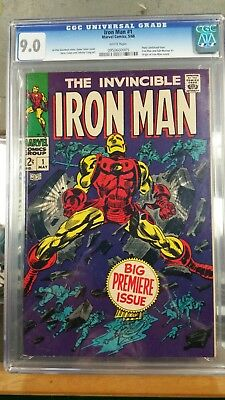 Iron Man 1 9.0 CGC - Free Shipping - GREAT BOOK