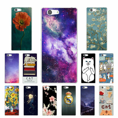 Soft TPU Silicone Case For Sony Xperia Z3 Compact Phone Back Cover Skin Cats