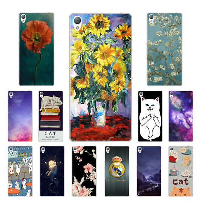 "5.2"" Soft TPU Silicone Case For Sony Xperia Z3 Phone Back Cover Skin Cats Print"