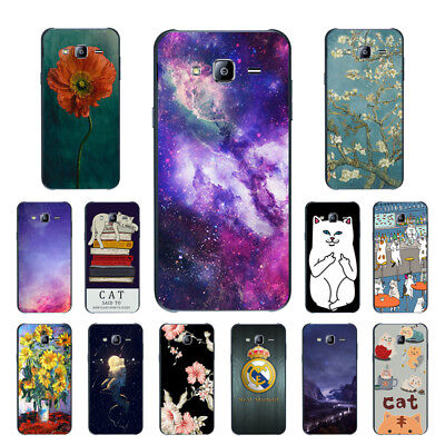 Soft TPU Silicone Case For Samsung Galaxy J7 2015 SM-J700F Back Covers Cats