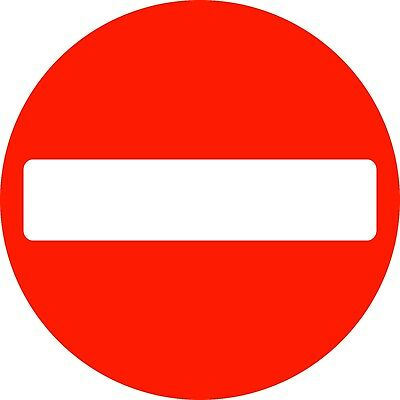 No Entry Caution Site Traffic Safety Rigid Sign 400mm x 400mm