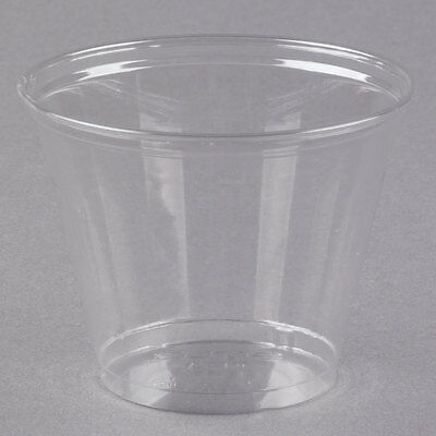 Lot of 1000 Plastic 9 oz Clear Squat Cup w/ Dome Lid with Hole