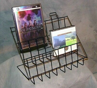 3-Tier 6 Pocket Literature Counter Display Rack Great for Books CD's DVD's Cards