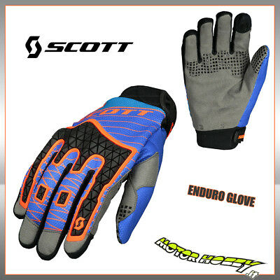 Guanto Cross Enduro Scott Enduro Glove Colore Blu Arancio Taglia S