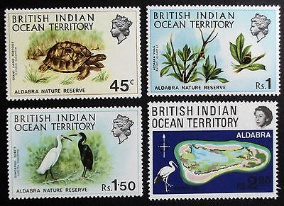 (A089) B.I.O.T 1971 Nature Reserve SG36-39 Set of (4) MNH.