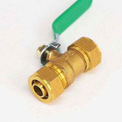 16/20/25mm Pex-AL-Pex Tube Brass Compression Ball Vave For Floor Heating