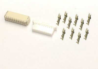 60 SET Micro JST-SH 1.0mm 10-Pin Female Connector,Crimp Contact Pin,Male Header