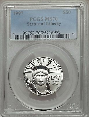 1997 PLATINUM EAGLE PCGS MS70 $50 *POP only 14 Coins * STATUE OF LIBERTY