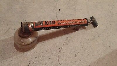 Vintage Black Flag Hand Held Bug Sprayer