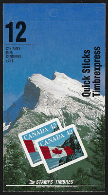 Canada Stamps - Booklet Pane of 12 - Flag over Mountains #1388a (BK141) - MNH