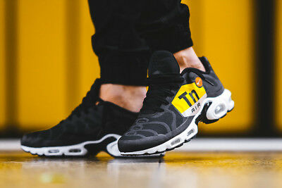 online store a3afb 0eb1c Nike Air Max TN Plus NS GPX Tuned 1 Mens Black White Trainers Shoes 6 8
