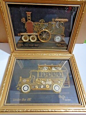 Lot Of 2 David Of London Horological Watch Parts Collage Art Gold Black
