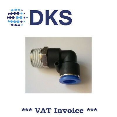 Elbow Stud Push In Fit Pneumatic Fittings Air 1/2 BSPT to 12mm Fitting  000632