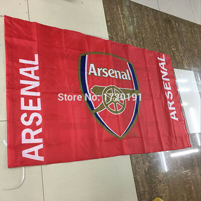 ARSENAL FC FLAG 3x5FT 90x150CM TWO GROMMETS