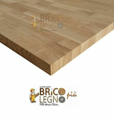 Pannello Lamellare finger Joint in Rovere mm 42x4500x650, tavola,tops,mensola