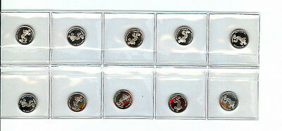 Mickey Mouse, Walt Disney .999 Pure Silver Coins,10 In Original Packaging