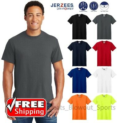 Jerzees Mens Sport 100/% Polyester T-shirt dri-fit Work out Gym S-2XL 3XL Tee 21m