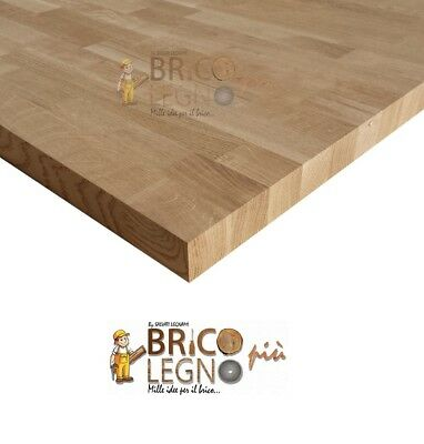 Pannello Lamellare finger Joint in Rovere mm 42x2200x650, tavola,tops,mensola