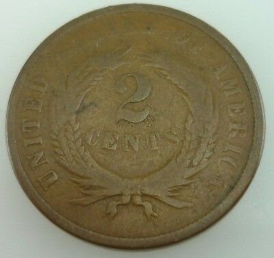 1867 Two-Cents / Two Cent Piece 2c US Coin ~ 4652~