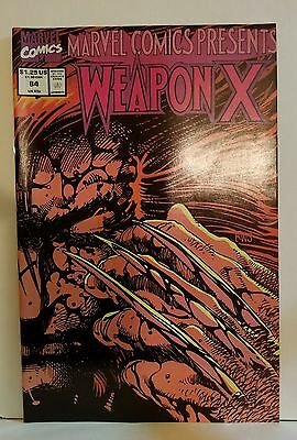 Marvel Comics Presents #84 Comic Book 1991 Weapon X high grade 9.6-9.8