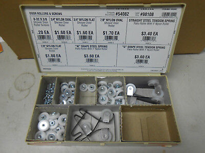 54082 Hillman Door Rollers And Screws/ Patio And Shower New Old Stock