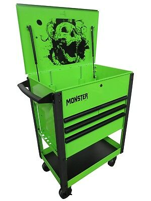 monster limited edition tool cart mst3304g - £250.00 | picclick uk